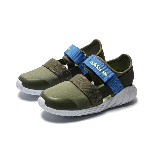 ADIDAS DOOM SANDAL I 軍綠 藍 魔鬼氈 護趾 涼鞋 小童(布魯克林) 2019/5月 CG6601