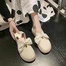 平底單鞋女2021春夏新款韓版豆豆鞋百搭仙女網紅款森女配裙護士鞋 【端午節特惠】