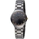 雷達錶 RADO True Thinline真薄簡約時尚陶瓷女腕錶-銀灰  R27956722