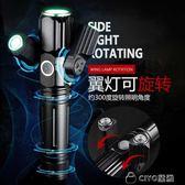 腳踏車燈夜騎超亮前燈可充電強光手電筒配件燈騎行裝備 ciyo黛雅