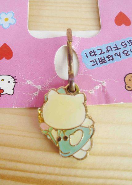 【震撼精品百貨】Hello Kitty 凱蒂貓~KITTY吊飾拉扣-天使綠