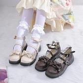 2020秋小皮鞋日系女jk軟妹圓頭低跟蝴蝶結花邊單鞋子洛麗塔少女鞋 「99購物節」