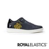 ROYAL ELASTICS Adelaide 黑黃真皮時尚休閒鞋 (男) 02694-993