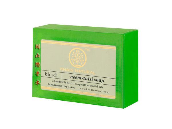 岡山戀香水~印度 Khadi 草本苦楝聖羅勒手工精油香皂125g~優惠價:65元