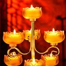 供佛七星燈琉璃酥油燈座供佛燈供燈供奉
