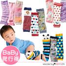 超萌卡通造型寶寶爬行襪 襪套 護膝 3入組