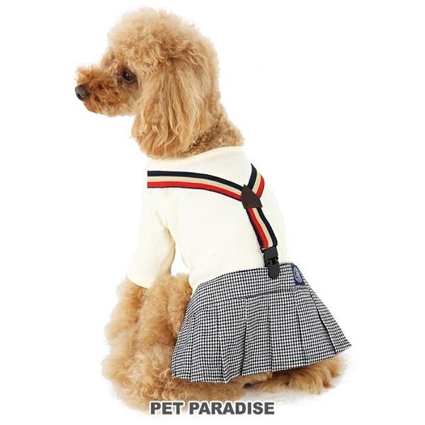 【PET PARADISE 寵物精品】J.PRESS 英倫風格紋吊帶洋裝 (3S/DSS/SS) 秋冬新品 寵物衣服