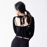 瑜珈服-短款綁帶美背彈力女運動上衣3色73rh20【時尚巴黎】