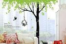 BO雜貨【YP1373】高品質創意牆貼/壁貼/背景貼/磁磚貼/壁貼樹 時尚組合壁貼 樹梢林蔭