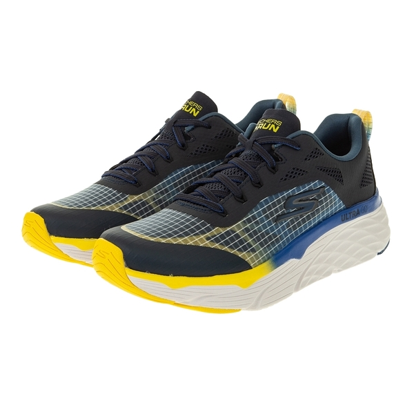 SKECHERS GO RUN MAX CUSHIONING ELITE 黑 男 厚底 運動 慢跑鞋 220063NVY