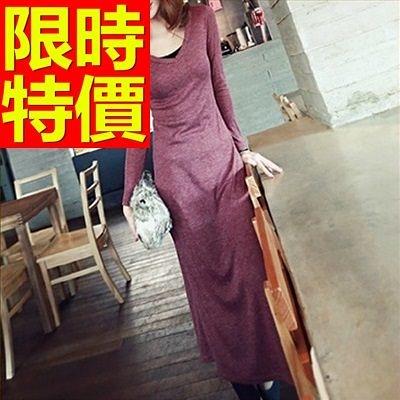 洋裝-長袖焦點新款時尚韓版連身裙61a97[巴黎精品]