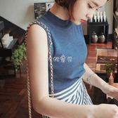 女性無袖背心 原宿風冰絲針織小背心女韓版外穿打底百搭短款 珍妮寶貝