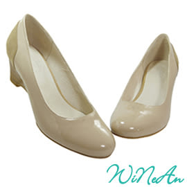 WINEAN薇妮安-優雅5cm船型、楔型鞋(杏色)-WNA-15989
