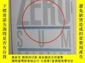 二手書博民逛書店【英語】原版英語書罕見《 Zero-Sum Solution 》