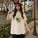 春季韓版2021新款寬鬆白色減齡時尚休閒簡約風打底短袖T恤上衣女 魔法鞋櫃
