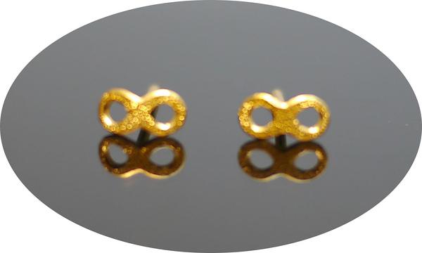 gold 黃金 耳環 金飾 保證卡 重量0.17錢 [ ge 063 ]