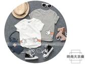 夏裝短袖T恤上衣男童卡通圓領半袖【時尚大衣櫥】
