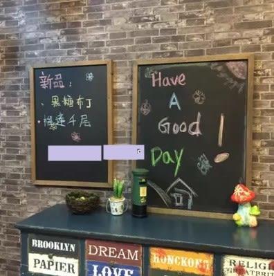 [協貿國際]   黑板咖啡廳告示板提示畫板牆面裝飾品  (1入)
