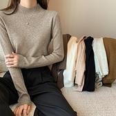 針織衫上衣長袖打底衫半高領打底羊毛針織衫女毛衣百搭洋氣長袖內搭上衣T432B-9060.胖胖唯依
