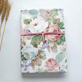 【玫瑰莊園】手工布藝手帳本記事本布面書衣A5旅行筆記本子文具厚