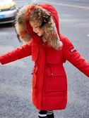 女童羽絨服 女童羽絨服2019新款中長款加厚大毛領冬裝韓版中大童兒童洋氣外套 快樂母嬰