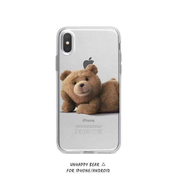 🍏 iPhone11ProMax 透明殼無敵 預購定制款 蘋果手機殼 [可掛繩] 懶懶肥宅熊麻吉 矽膠軟殼