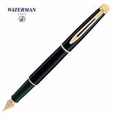 Waterman雋雅筆系黑桿金夾鋼筆