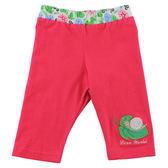 【愛的世界】彈性緊身七分褲-紅/1~2歲-台灣製- ★春夏下著