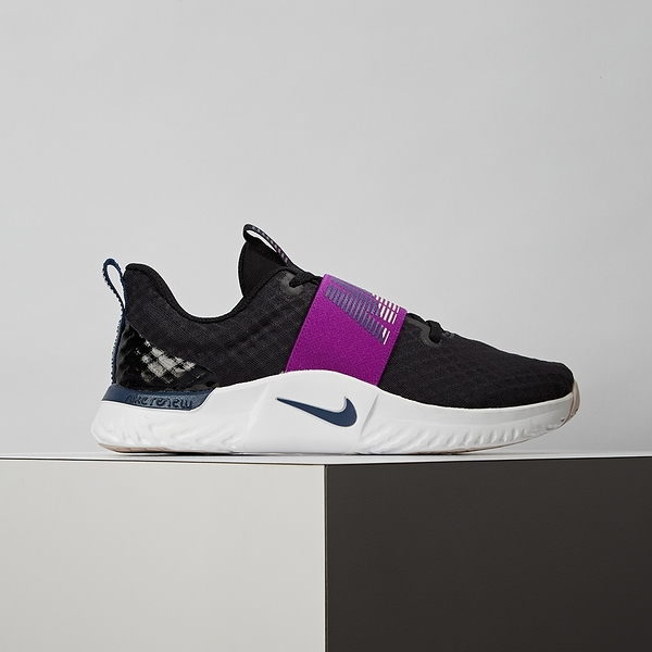Nike Renew In-season Tr 9 W 女款 黑紫 訓練 輕量 透氣 避震 慢跑鞋 AT1247-012