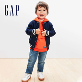 Gap男幼童 羊毛混紡長袖拉鍊棒球領外套 593063-海軍藍