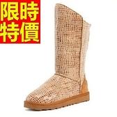 中筒雪靴-洛可可風格防寒真皮革女靴子1色62p8【巴黎精品】