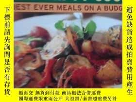 二手書博民逛書店THE罕見THRIFTY COOK 彩色銅版紙 介紹菜品的外文書