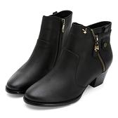 PLAYBOY PARIS 手工粗跟短靴-黑(Y6791)