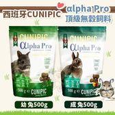 *KING WANG*西班牙CUNIPIC《αlpha Pro頂級無穀 幼兔|成兔 飼料》500g