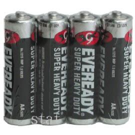 [奇奇文具] 【永備 黑金剛 電池】 永備黑金鋼/永備黑貓碳梓電池 AA #3號電池 (4入/封-收縮膜)
