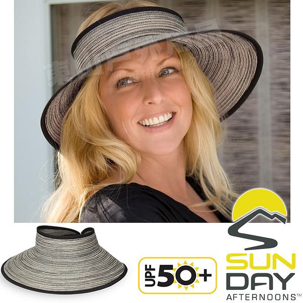 Sunday Afternoons S2C21073C-329胡椒灰 防曬編織空頂帽 Sicily Visor