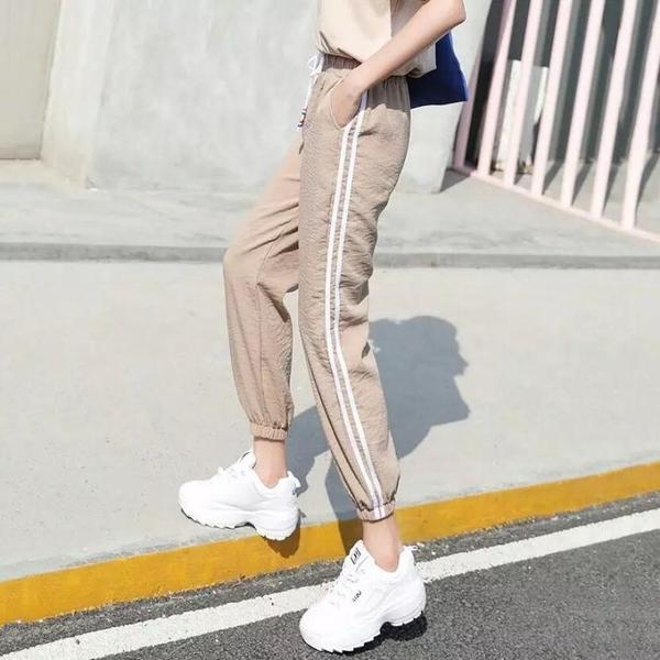 大人燈籠褲女防蚊褲夏季薄款成人冰絲亞麻哈倫棉麻褲子綿綢運動褲 快速出貨