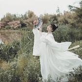 雪魄漢服女齊胸襦裙古裝服裝淡雅魏晉風古裝【時尚大衣櫥】