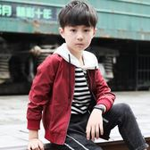 年終9折大促 男童春秋季外套兒童中大童開襟棒球服 韓版潮