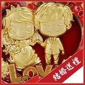 耶誔節 交換禮物~ 讓幸福兌換成24K黃金箔彩虹永恒祝福【心心相印】~結婚 生日 禮物~112118