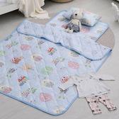 兒童睡墊涼被組 / 200織紗精梳棉 / Owl-city(藍)