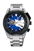 [Y21潮流精品] 新款!ORIENT STAR 復古未來系列 搖滾吉他造型機械錶 鋼帶款 WZ0161DA 藍色