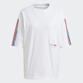 Adidas ORIGINALS ADICOLOR 女裝 短袖 T恤 休閒 寬鬆 三條線 白【運動世界】GN2870