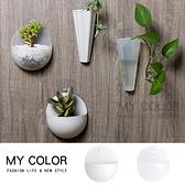 壁掛式 花盆 塑膠花盆 壁掛式收納盒 半圓 置物架 筆筒 花架 簡約 壁掛式 花盆【P309】MY COLOR