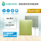 【Original Life】適用TECO東元:NN1601BD 空氣清淨機濾網 (一次換到好組合)