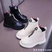 女童馬丁靴單靴2020年春秋款英倫風童鞋黑色短靴防水女孩兒童靴子 美眉新品