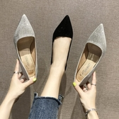 新款夏季女鞋韓版百搭淺口亮片法式少女高跟鞋女細跟單鞋聖誕交換禮物