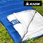 丹大戶外【KAZMI】可拼接保暖睡袋(藍色) K7T3M002 登山活動/保暖透氣/吸濕速乾