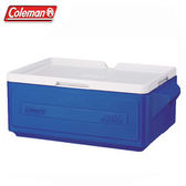 【偉盟公司貨】【65折】丹大戶外 美國【Coleman】CM-1326J 23.5L 置物型冰桶 置物箱/保鮮桶 藍