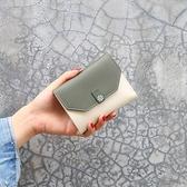 新款韓版小錢包女短款折疊簡約時尚女士卡包迷你錢包三折可愛學生